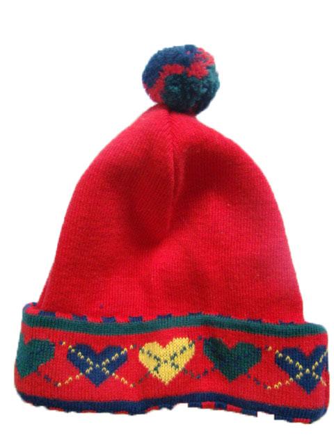 Dětská zimní čepice červená