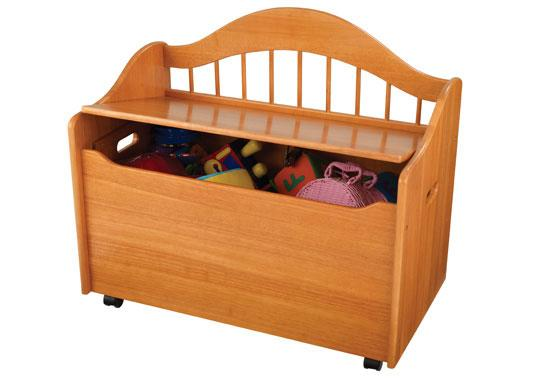 Úložný box na hračky - lavice - medová