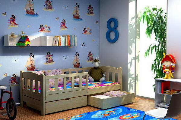 Dětská dřevěná postel DP002