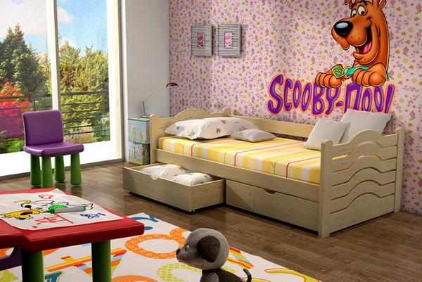 Dětská dřevěná postel DP004