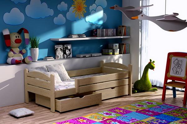 Dětská dřevěná postel DP005