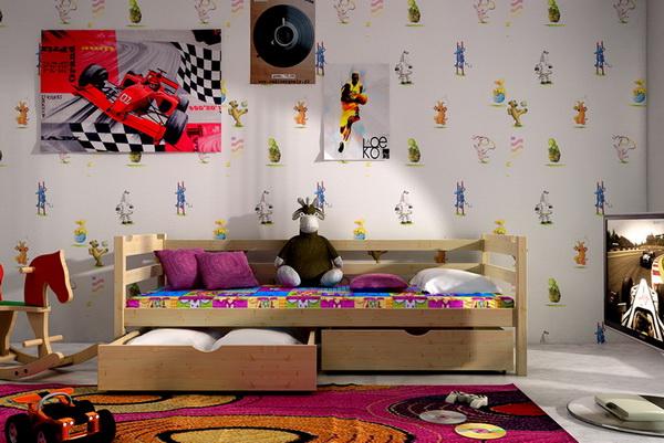 Dětská dřevěná postel DP007