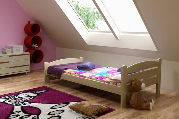 Dětská dřevěná postel DP008