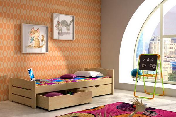 Dětská dřevěná postel DP009