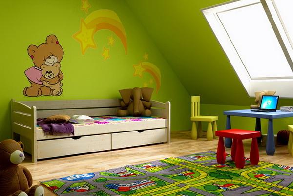Dětská dřevěná postel DP010