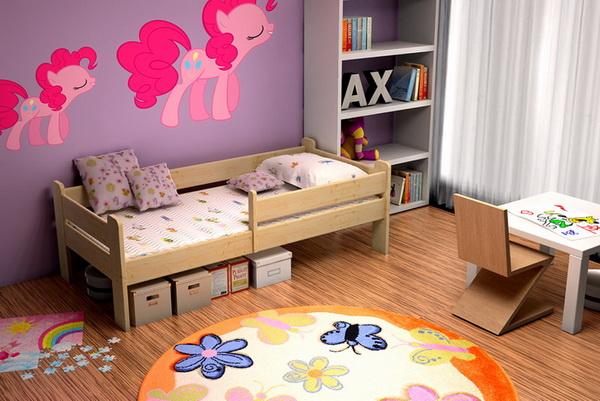 Dětská dřevěná postel DP012