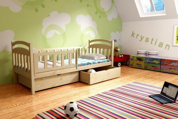 Dětská dřevěná postel DP014