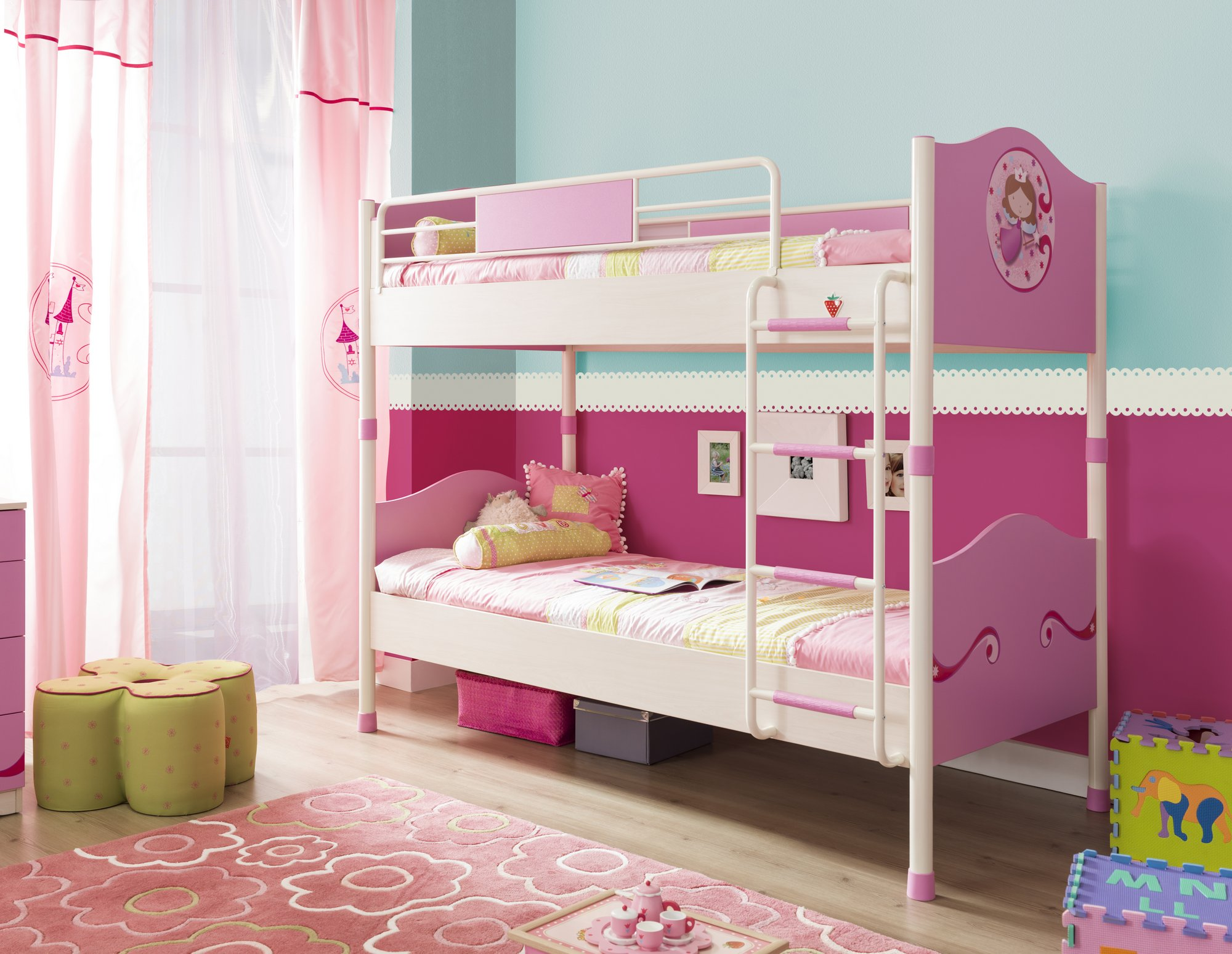 Dětská postel patrová SL Princess 90x200 cm