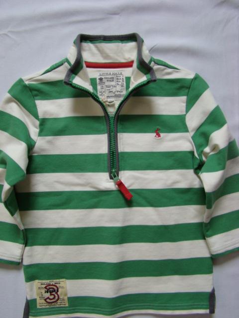 Mikina chlapecká LJ zeleno-bílý proužek