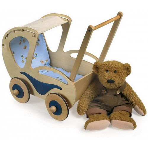 Fotografie Dřevěné hračky pro holky - Kočárek pro panenky Dolly