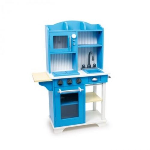 Dětská kuchyň dřevěná modrá