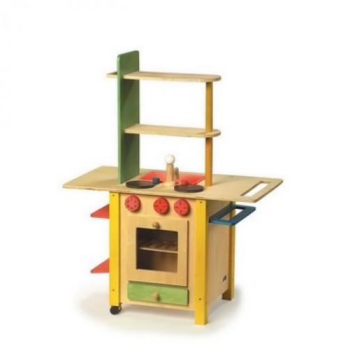 """Dětská kuchyň dřevěná """"All in One"""""""