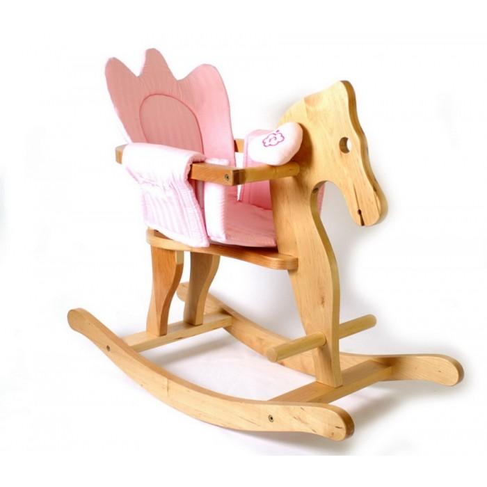 Dřevěný houpací kůň s ohrádkou