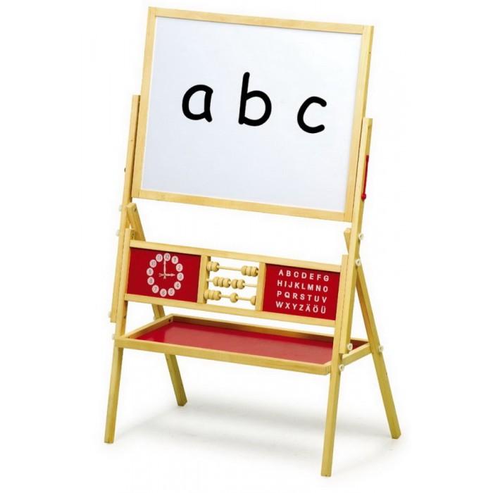 Dětská tabule na kreslení dřevěná multifunkční