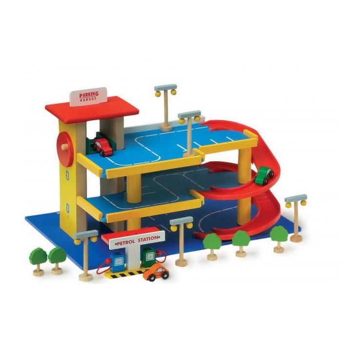 Dětská dřevěná garáž - parkovací dům