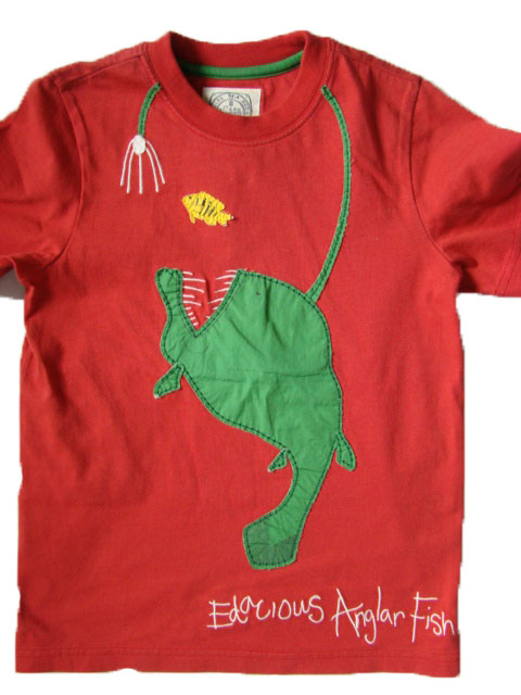 Chlapecké triko LJ červené s rybou