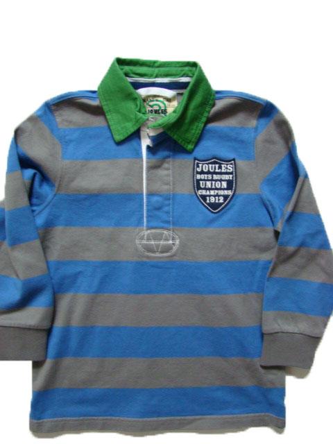 Chlapecké polo triko LJ šedo-modrý proužek