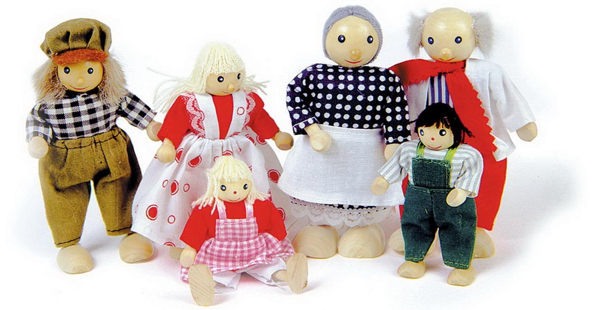 """Panenky - dřevěné figurky """"Millerovi"""""""
