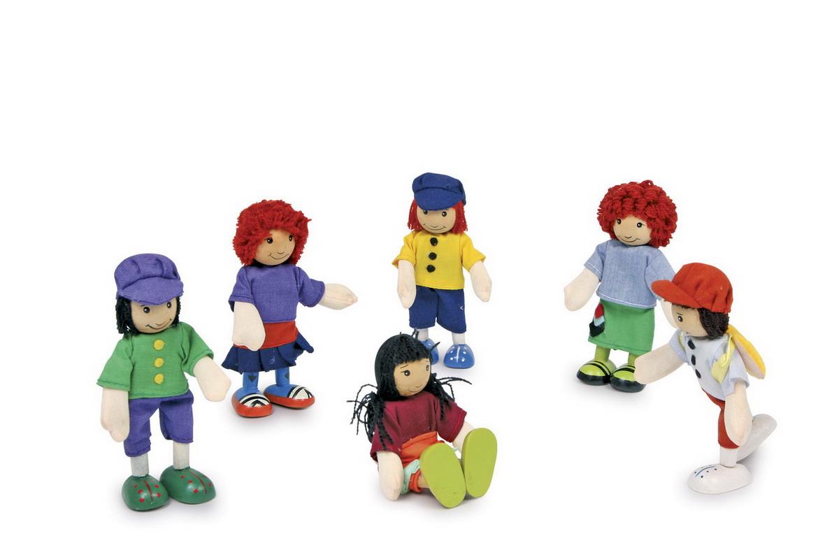 """Panenky - dřevěné figurky """"6 přátel"""""""