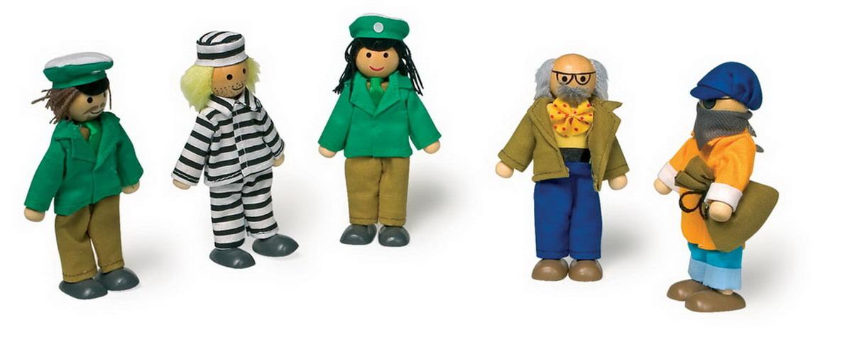 """Panenky - dřevěné figurky """"Policie"""""""
