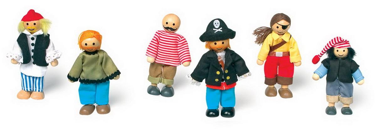 """Panenky - dřevěné figurky """"Piráti"""""""